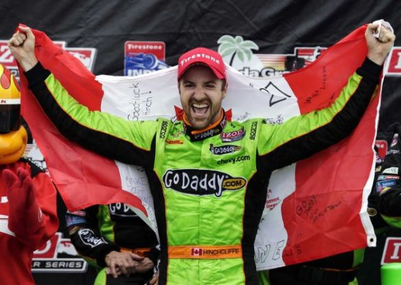 James Hinchcliffe 2013 St. Pete Victory Lane